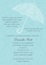 Filigree Umbrella Bali Invitations