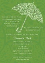 Filigree Umbrella Olive Invitations