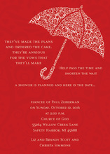 Filigree Umbrella Berry Shower Invitations
