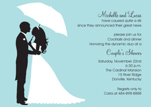 Couple's Silhouette Blue-Bali Invitations