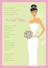 Blushing Bride Asian Invitation