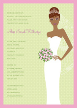 Blushing Bride African American Invitation