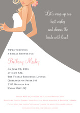 Bridal Side Grey Blonde Bridal Shower Invites