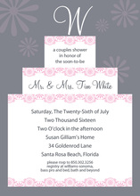 Initial Monogram Cake Grey Invitations