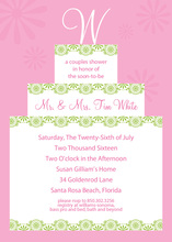 Your Initial Name Cake Pink Invitations