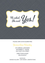 Crosshatch Bookplate Yellow Invitations