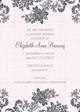 Rose Linen Pink Shower Invitations