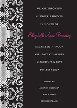 Bachelorette Fishnet Black Invitations