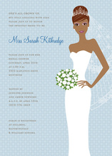 Blushing Bride Blue African American Invites