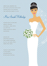 Blushing Bride Blue Asian Invitations
