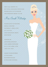 Blushing Bride Blue Blonde Invitations