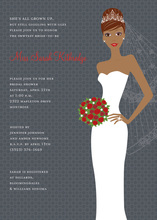 Blushing Bride Charcoal African American Invites