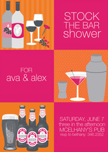 3 Stock The Bar Orange Invitations
