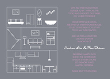 House Layout Pink Invitations
