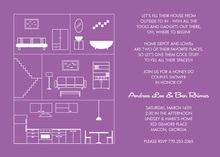 House Layout Lavender Invitations