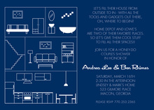 House Layout Navy Blue Invitations