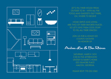 House Layout Blue Invitations