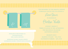 Linen Shower Yellow Bathroom Invitations