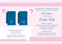 Linen Shower Pink Bathroom Invitations