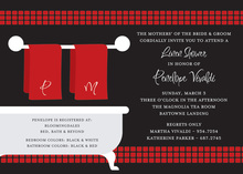 Linen Shower Black Bathroom Invitations