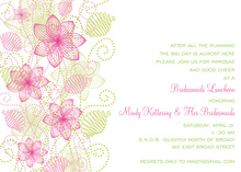 Modern Floral Pink Invitations
