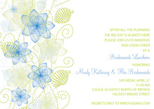 Modern Floral Blue Invitations