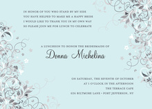 Floral Corners Blue Bridal Invitations