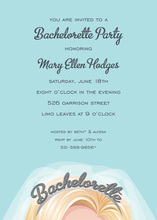 Blonde Tiara Bahcelorette Party Invitations