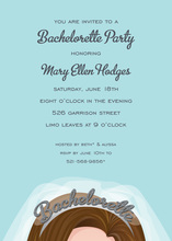 Brunette Tiara Bahcelorette Party Invitations