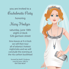 Bachelorette Readhead Silver Bachelorette Invitation