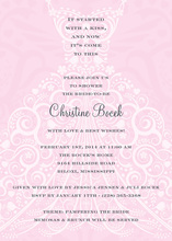 Softly Dress Royal Pink Invitations
