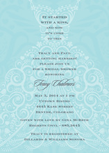 Scalloped Dress Blue Invitations