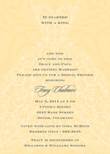 Fabulous Dress Yellow Patterned Invitations