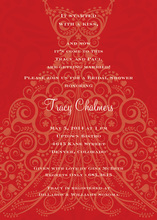 Splendid Holiday Red Dress Invitations