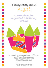 Colorful Birthday Pink Bouncing Invitation