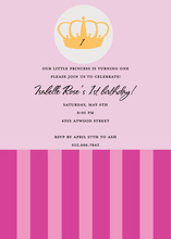 Pin Crown Stripes Invitation