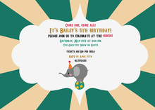 Elephant Circus Invitation