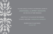 Chic Modern Damask Grey Wedding Shower Invitations