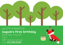 Woodland Forest Fox Party Invitation