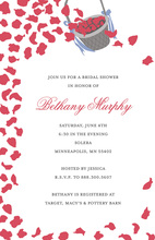 Petal Basket Shower White Wedding Shower Invites