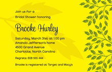 Playful Breeze Leaves In Yellow Background Invitations