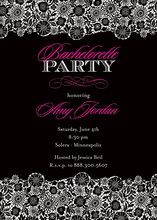 Exquisite Black Classic Patterned Party Invitations