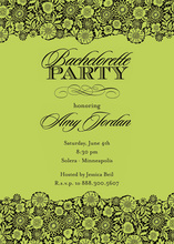 Playful Green Unique Patterned Party Invitations
