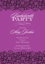 Distinguish Purple Patterned Party Invitations