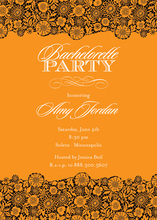 Stylish Orange Modern Patterned Party Invitations