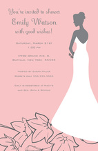 Beautiful Silhouette Bride Flowers Bridal Invitations