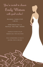 Sentimental Slim Bride On Flowers Bridal Invitations