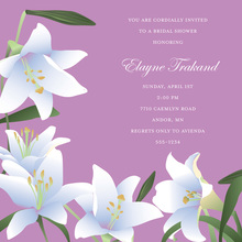 Velvet Lilies Square Lavender Wedding Invitations