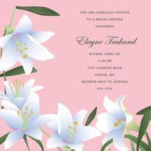 Velvet Lilies Square Pink Wedding Invitations