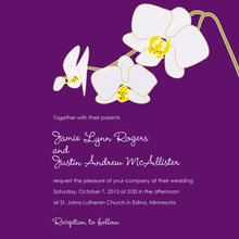 Blooming Orchid Purple Wedding Shower Invitations